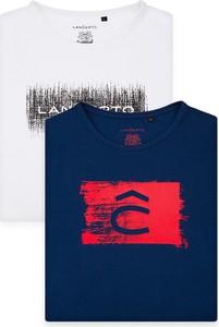 T-shirt LANCERTO z bawełny z krótkim rękawem
