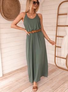 Zielona sukienka SELFIEROOM z bawełny