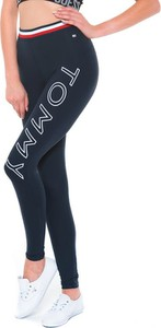 Czarne legginsy Tommy Hilfiger w sportowym stylu
