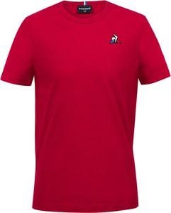Czerwona koszulka dziecięca Le Coq Sportif z krótkim rękawem dla chłopców