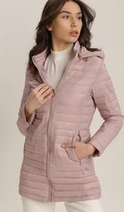 Różowa kurtka Renee długa
