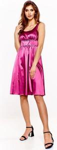 Sukienka Fokus midi z tkaniny trapezowa