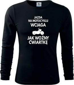 Bluzka TopKoszulki.pl w młodzieżowym stylu z bawełny z okrągłym dekoltem