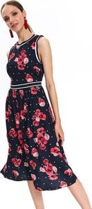 Sukienka Top Secret bez rękawów w stylu boho