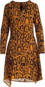 Brązowa sukienka Multu mini