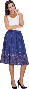 Niebieska spódnica Figl midi