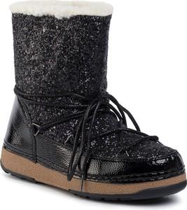 Czarne śniegowce DeeZee sznurowane