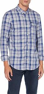 Niebieska koszula amazon.de z klasycznym kołnierzykiem