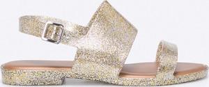 Złote sandały Melissa