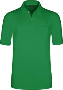 Zielona koszulka polo Tom Rusborg z bawełny z krótkim rękawem