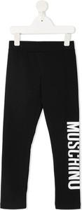 Czarne spodnie dziecięce Moschino