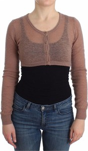 Brązowy sweter Ermanno Scervino w stylu casual z wełny