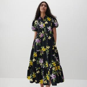 Sukienka Reserved trapezowa maxi z krótkim rękawem