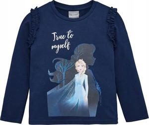 Granatowa bluzka dziecięca Disney z bawełny dla dziewczynek