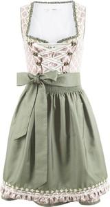 Sukienka bonprix bpc bonprix collection w stylu etno rozkloszowana bez rękawów