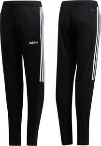 Czarne spodnie dziecięce Adidas w paseczki dla chłopców