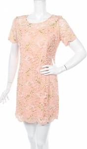 Sukienka Bgn Workshop z okrągłym dekoltem z krótkim rękawem mini