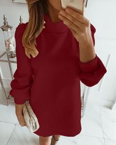 Sukienka Kendallme mini z długim rękawem z golfem