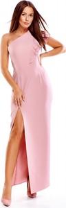 Sukienka Evema maxi z asymetrycznym dekoltem