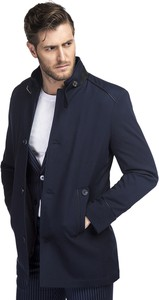 Granatowy płaszcz męski Giacomo Conti