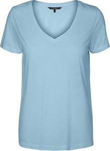 Niebieski t-shirt Vero Moda