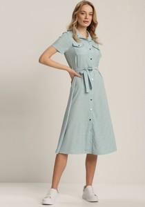 Sukienka Renee z krótkim rękawem midi w stylu casual