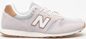 Różowe buty sportowe New Balance sznurowane ze skóry