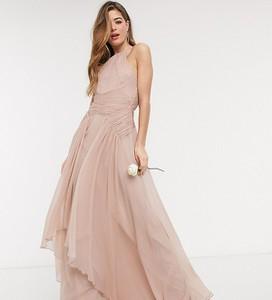 Sukienka Asos na ramiączkach z dekoltem halter maxi