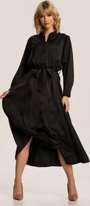 Sukienka Renee midi koszulowa z długim rękawem