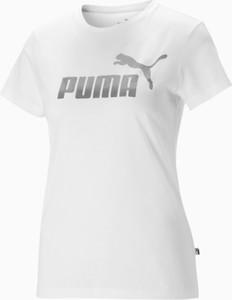 T-shirt Puma w sportowym stylu z krótkim rękawem z okrągłym dekoltem
