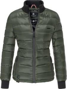Zielona kurtka Marikoo krótka w stylu casual