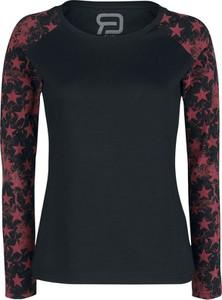 Czarna bluzka Emp w stylu casual z okrągłym dekoltem