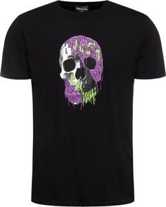 Czarny t-shirt Just Cavalli z krótkim rękawem