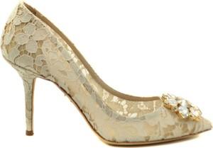 Czółenka Dolce & Gabbana ze spiczastym noskiem na wysokim obcasie