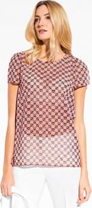 Różowa bluzka L'AF z tkaniny