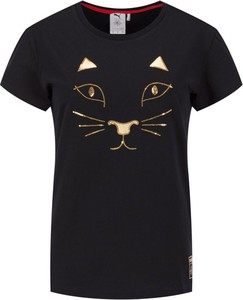 T-shirt Puma w młodzieżowym stylu z okrągłym dekoltem