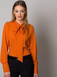 Pomarańczowa bluzka Willsoor z dekoltem w kształcie litery v