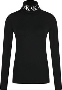 Bluzka Calvin Klein z golfem z długim rękawem