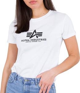 Bluzka Alpha Industries z okrągłym dekoltem z krótkim rękawem
