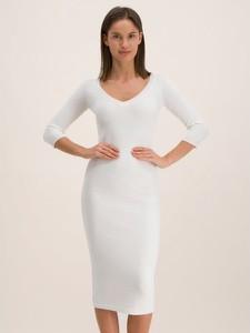 Sukienka Elisabetta Franchi dopasowana z okrągłym dekoltem w stylu casual