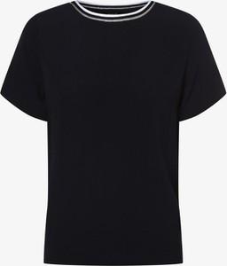 Granatowa bluzka Aygill`s z krótkim rękawem w stylu casual
