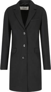 Czarny płaszcz Calvin Klein z wełny
