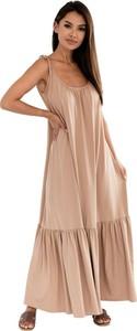 Sukienka Ooh la la na ramiączkach maxi z bawełny