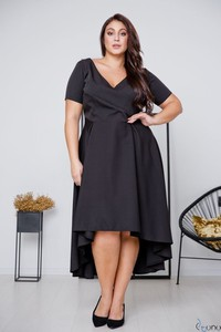 Czarna sukienka tono.sklep.pl midi