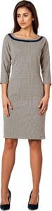 Sukienka POTIS & VERSO z długim rękawem midi w stylu casual