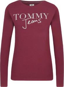 Bluzka Tommy Hilfiger z okrągłym dekoltem w stylu casual