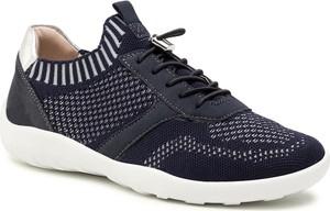 Granatowe buty sportowe Remonte sznurowane
