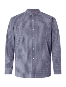 Niebieska koszula S.oliver Plus z klasycznym kołnierzykiem