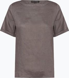 Bluzka Franco Callegari z okrągłym dekoltem z krótkim rękawem z lnu