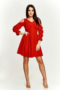 b41dc2ed35 Sukienka Tęcza2 midi z długim rękawem z dekoltem w kształcie litery v